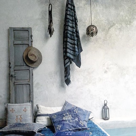 indigo ethnic style pillows