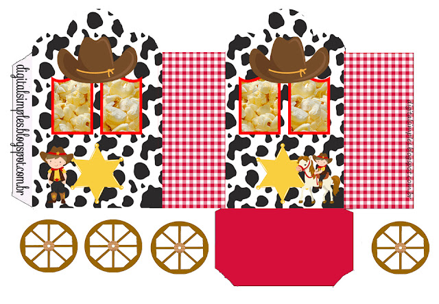 Little Cowboy Free Printable Carriage Box.