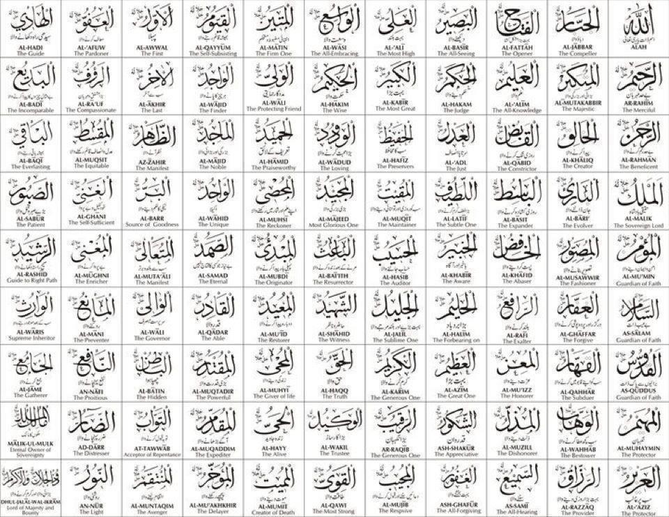 99 Nama Allah SWT Asmaul Husna | Bintang Blogger