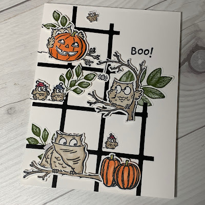 Halloween card idea using Have a Hoot Stamp Set