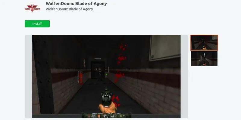 أفضل ألعاب ubuntu-snap-store-wolfendoom-blade-of-agony