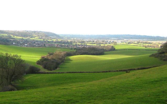 Hills in sunlight