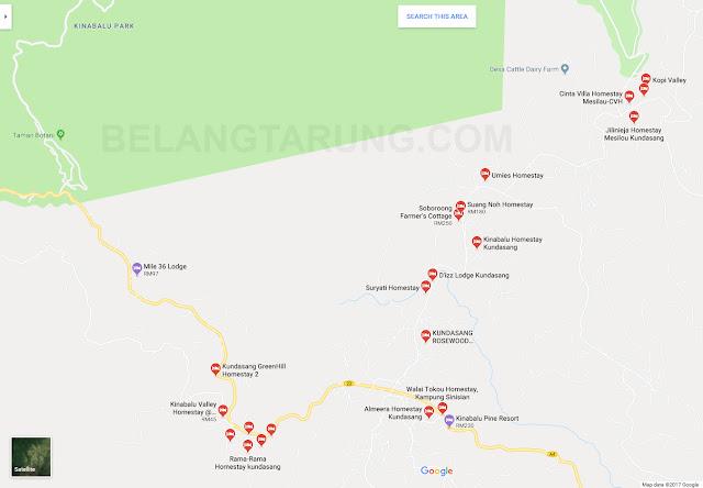 Homestay Sekitar Kundasang Sabah | Google Maps