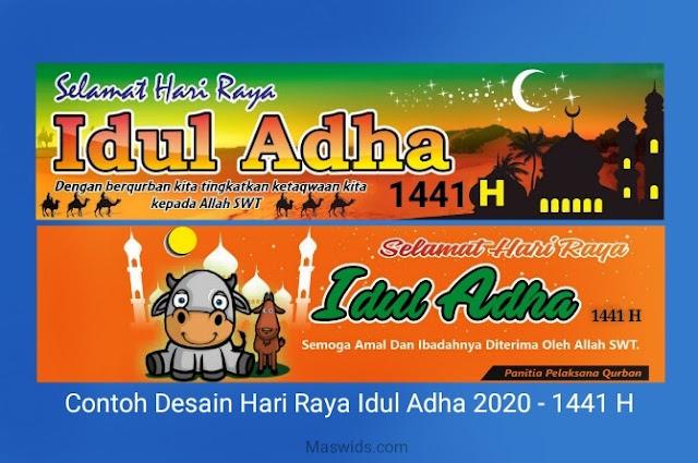 Desain banner hari raya idul adha 2020 1441 hijriah