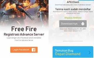 Pendaftaran Free Fire Advance Server