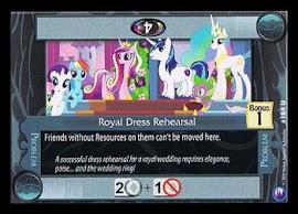 My Little Pony Royal Dress Rehearsal Canterlot Nights CCG Card