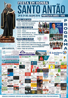 Programa Festas de Santo Antão 2016