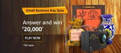 Amazon Small Business Quiz Answer | Amazon Quiz Answer December 2019