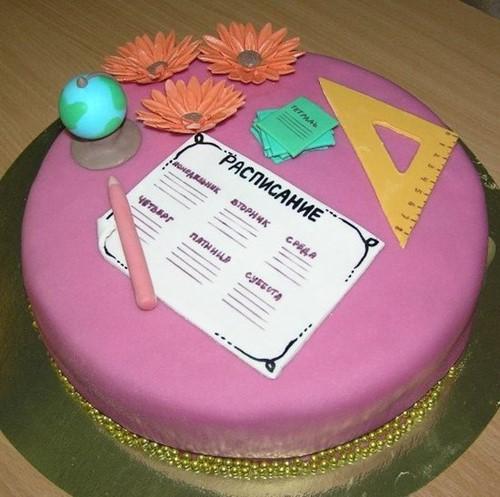 Оформление школьных тортов - фото-идеи http://prazdnichnymir.ru/