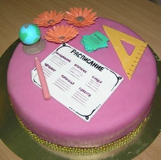 Оформление школьных тортов - фото-идеи