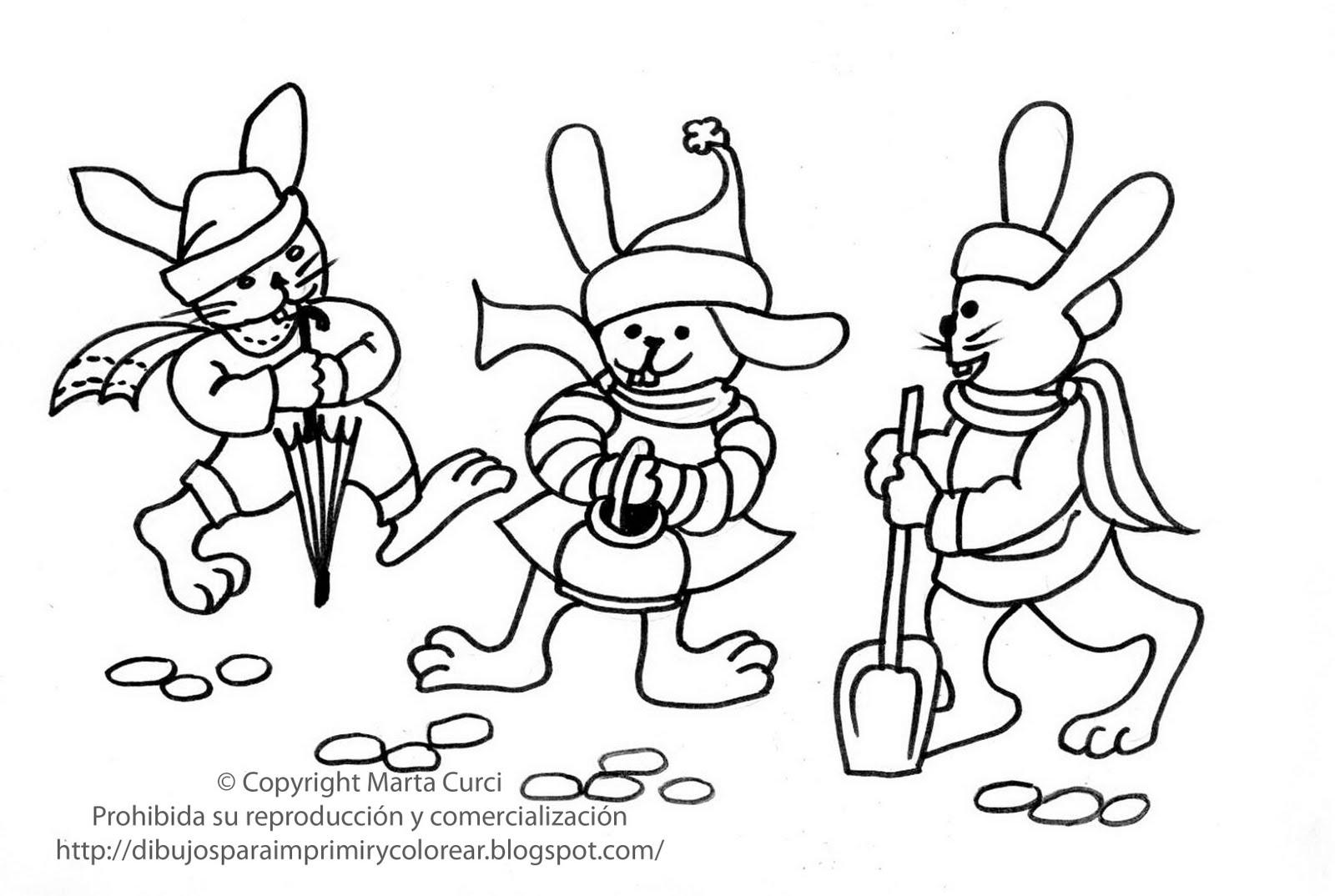 Dibujos De Conejitos Para Imprimir Y Colorear: Dibujos Para Imprimir Y Colorear Gratis Para Niños: Dibujo