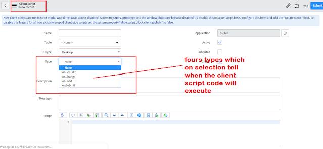 client script servicenow, client side scripting in servicenow, servicenow client side scripting