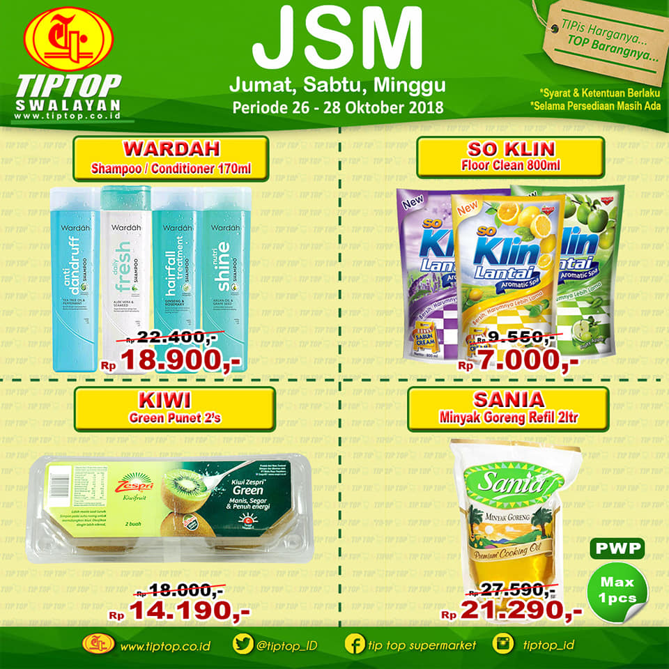 TipTop - Promo Katalog JSM Periode 26 - 28 Oktober 2018