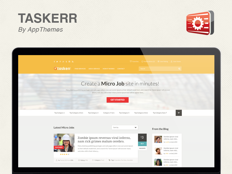 Tasker.1.0.2  Wordpress Template Free Download.