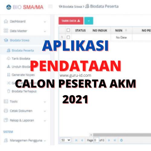 gambar aplikasi Pendataan Calon Peserta Asesmen Nasional (AN) Tahun 2021