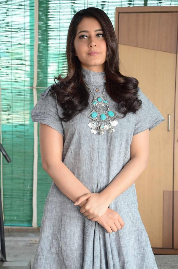 Photos Of Rashi Khanna In Blue Dress