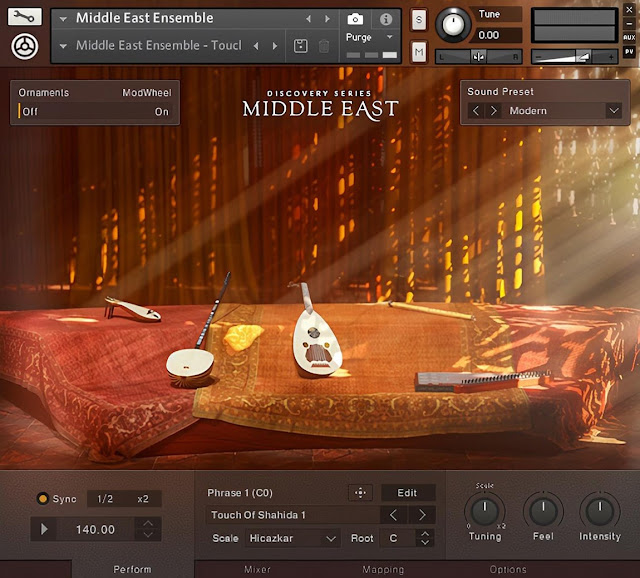 Interface da Library Native Instruments - Discovery Series: Middle East v1.1.0 (KONTAKT)