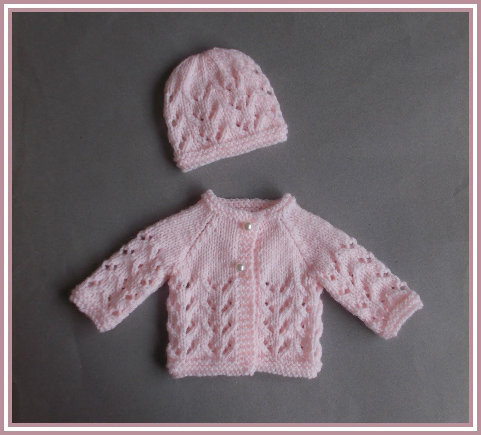 Marianna\'s Lazy Daisy Days: Little Bibi - Preemie Baby Jacket & Hat