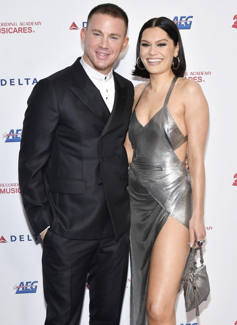 Jessie J turns bombshell as she arrives at the Aerosmith tribute with Channing Tatum following reunion