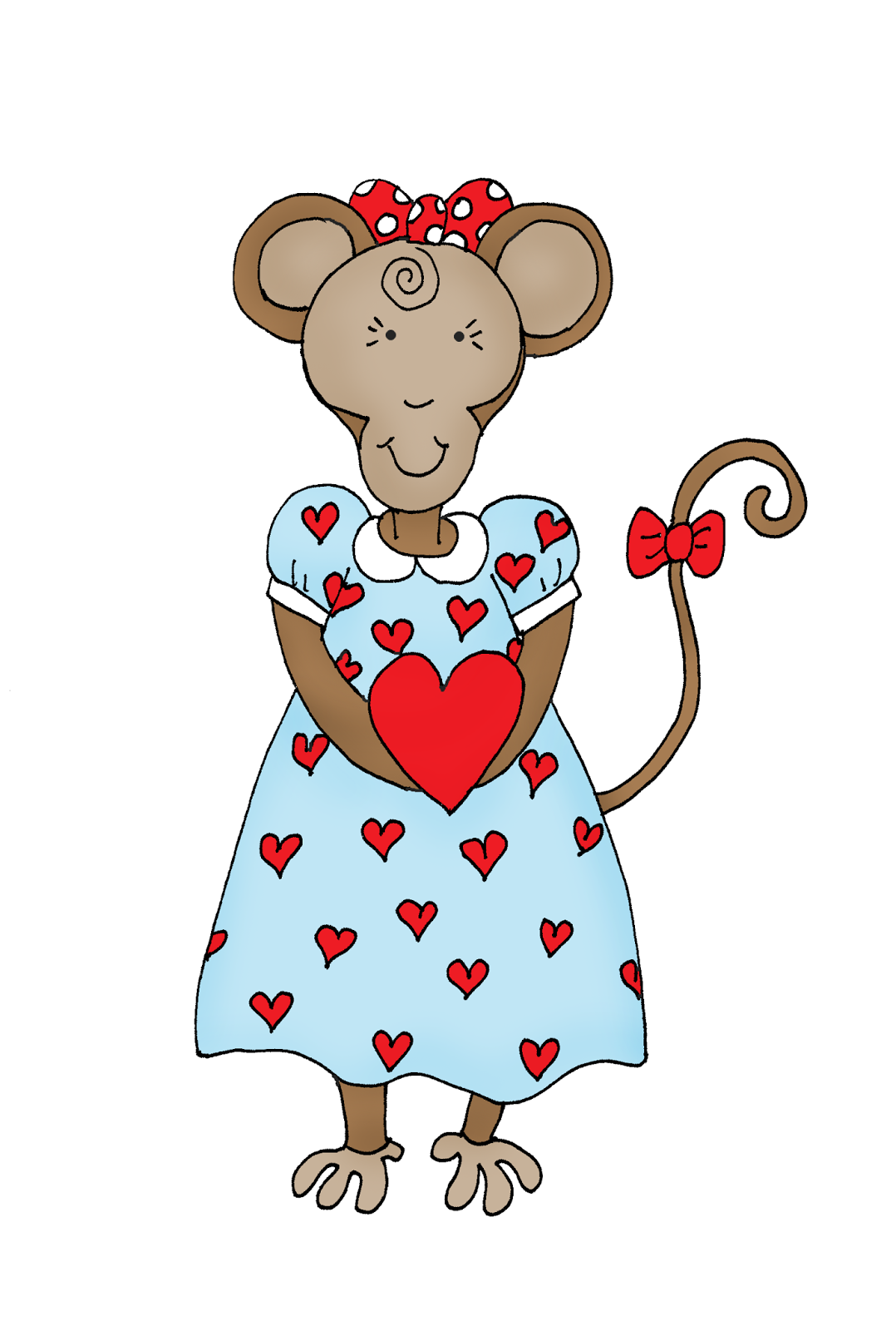 Free Dearie Dolls Digi Stamps: Valentine Monkey
