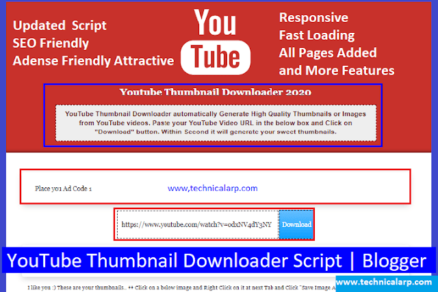 YouTube Thumbnail Downloader Script Download