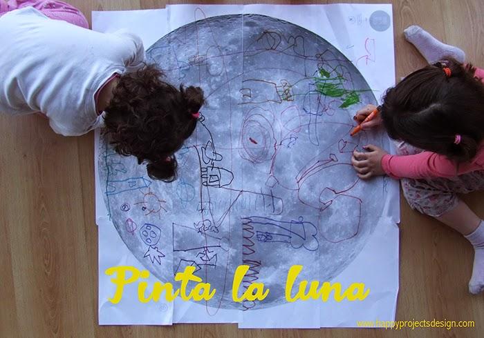 Astronomía para niños: pinta la luna