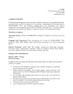 HTML Developer Resume Samples