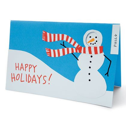 Holiday Card: Changing Faces Snowman