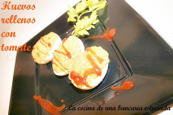 Receta de huevos rellenos con salsa de tomate