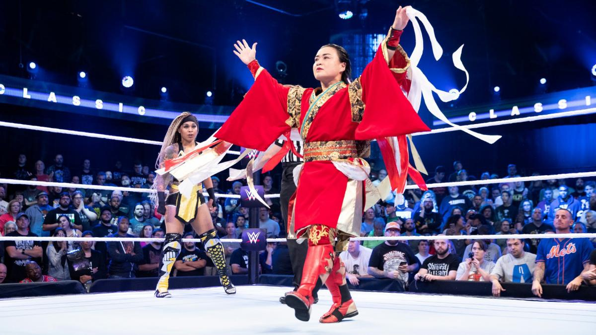 Meiko Satomura and Kayden Carter in the WWE Mae Young Classic