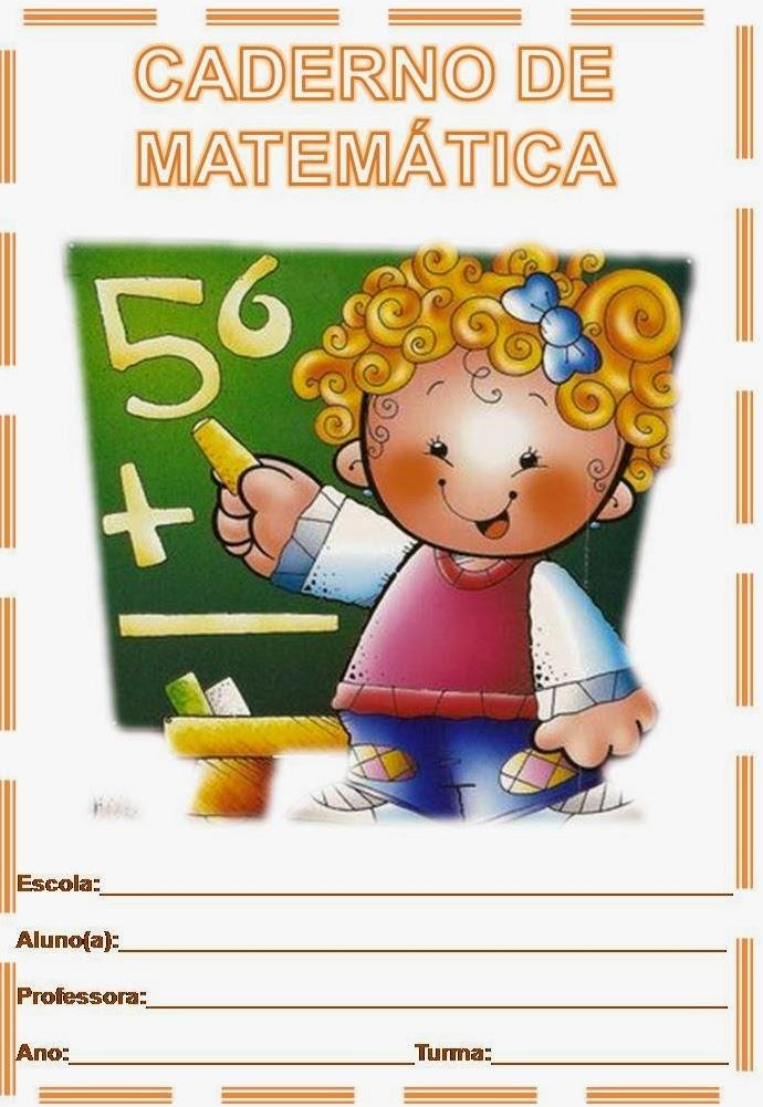 Capa De Caderno De Matematica Colorida Para Imprimir Desenhos