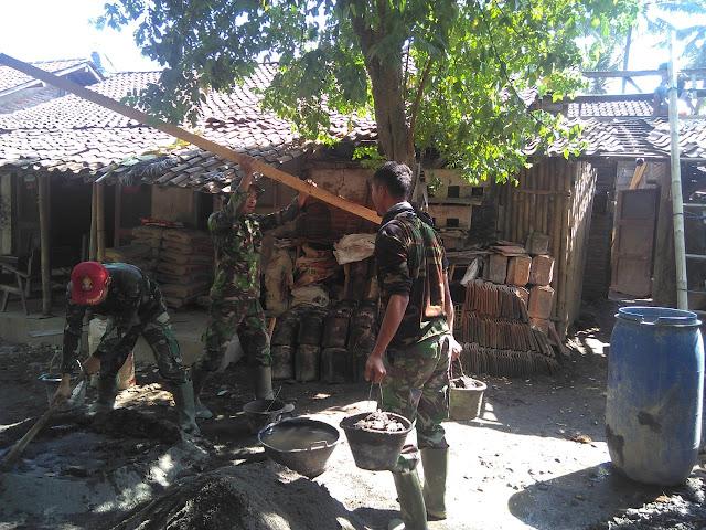 Betapa gembira hati Romlah, kini rumahnya direhap oleh Satgas TMMD Kodim Klaten