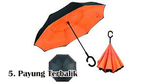 Payung Terbalik merupakan salah satu jenis payung yang bisa kamu jadikan souvenir
