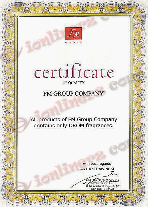 Certificate of Quality FM Group Company