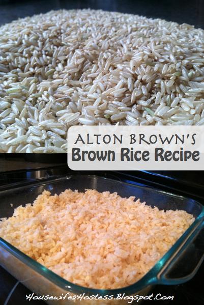 Alton Brown's Brown Rice