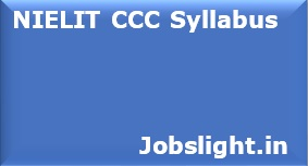 NIELIT CCC Syllabus