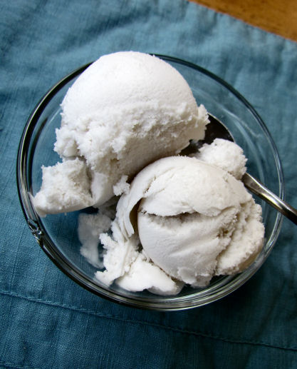 Homemade Coconut Milk Ice Cream