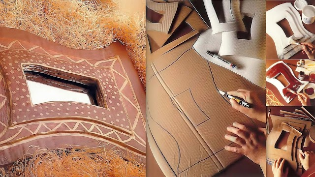 DIY Κρνίζες με χαρτόνι και στόκο