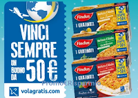 Logo Findus ''Inforna e vinci'': buono Volagratis da 50€ come premio certo