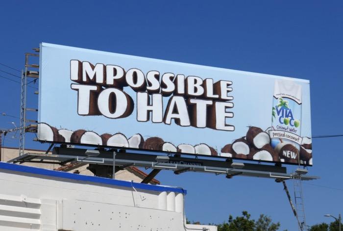 Vita Coco Impossible to hate billboard