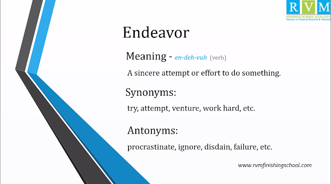 """Word Of The Day """"Endeavor"""""""