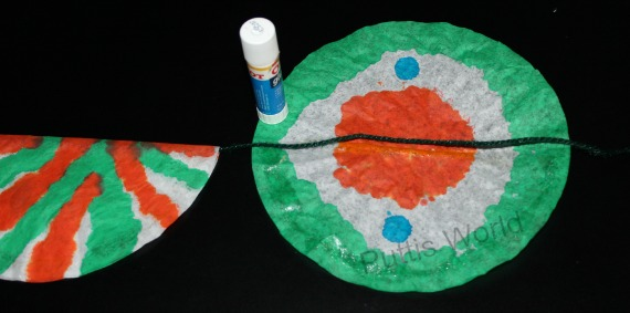 Kids Patriotic Craft - India Flag Coffee Filter Bunting