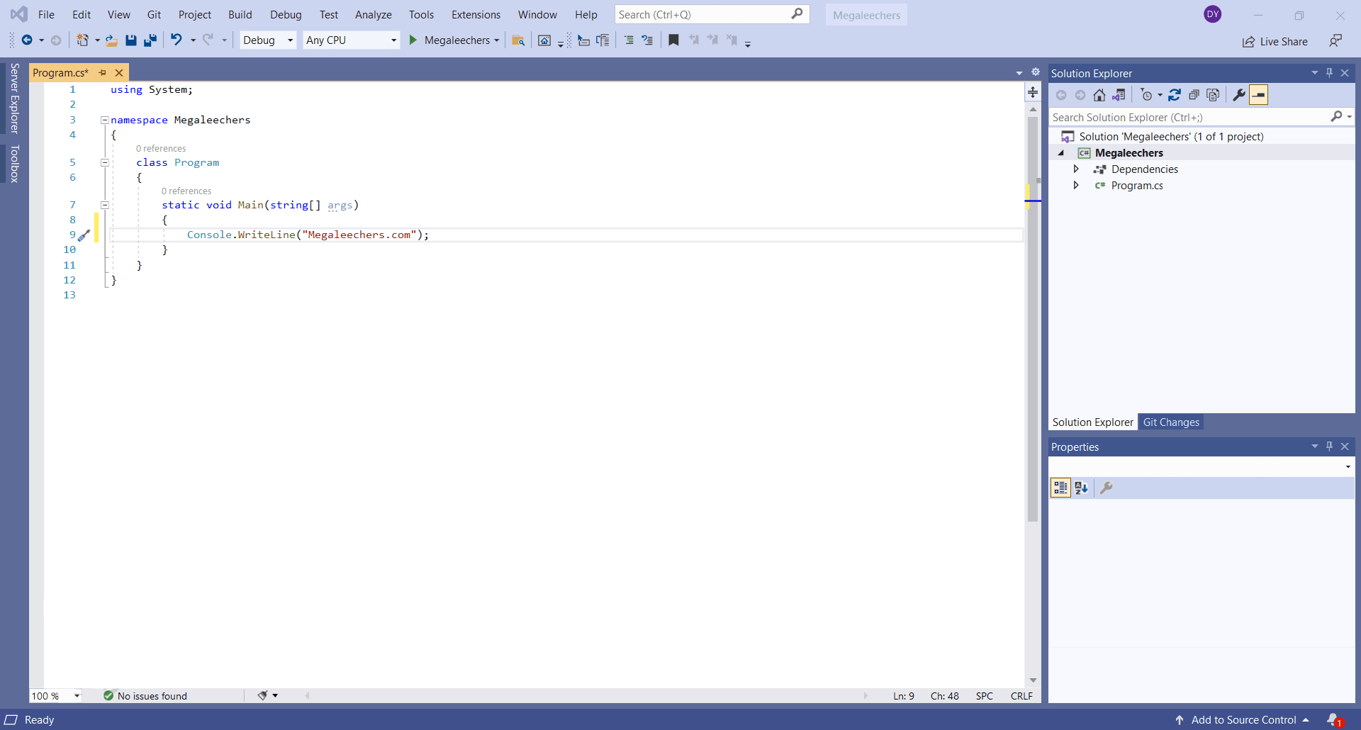 Visual Studio 2019 For Windows Main Interface Screenshot