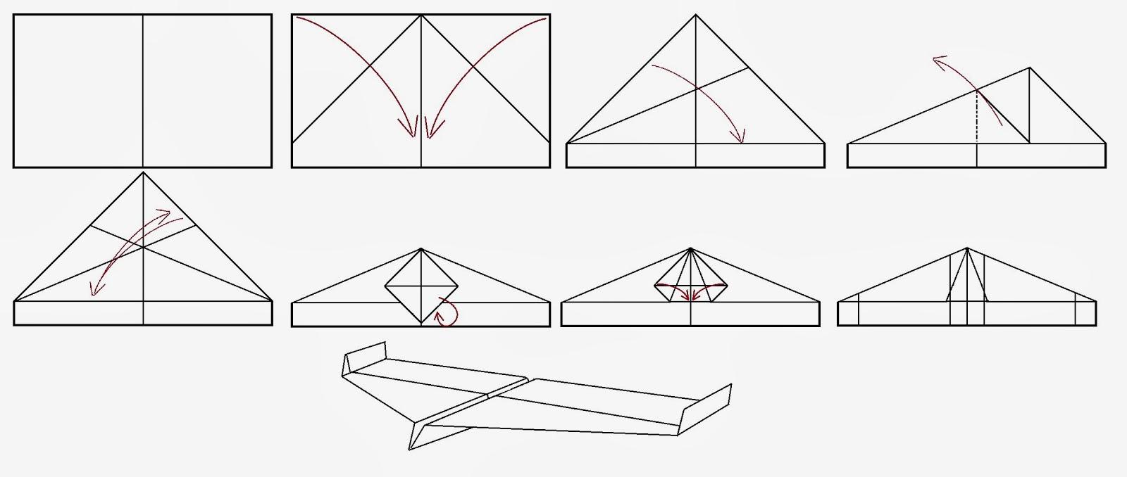 Avión de papel Wing 49