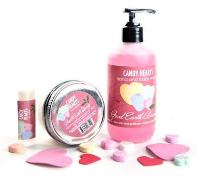 Good Earth Beauty #natural #vegan CANDY HEARTS Lip Balm, Soy Candle, Hand/Bath Wash