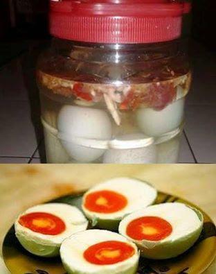 Resepi Telur Masin Pedas Spicy