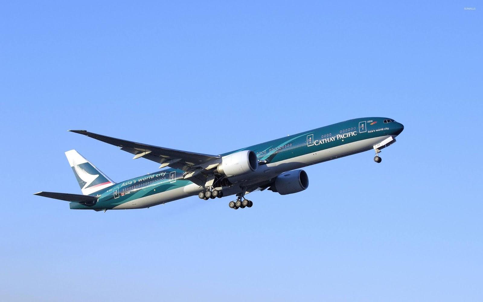 Cathay Pacific Boeing 777 flight wallpapers