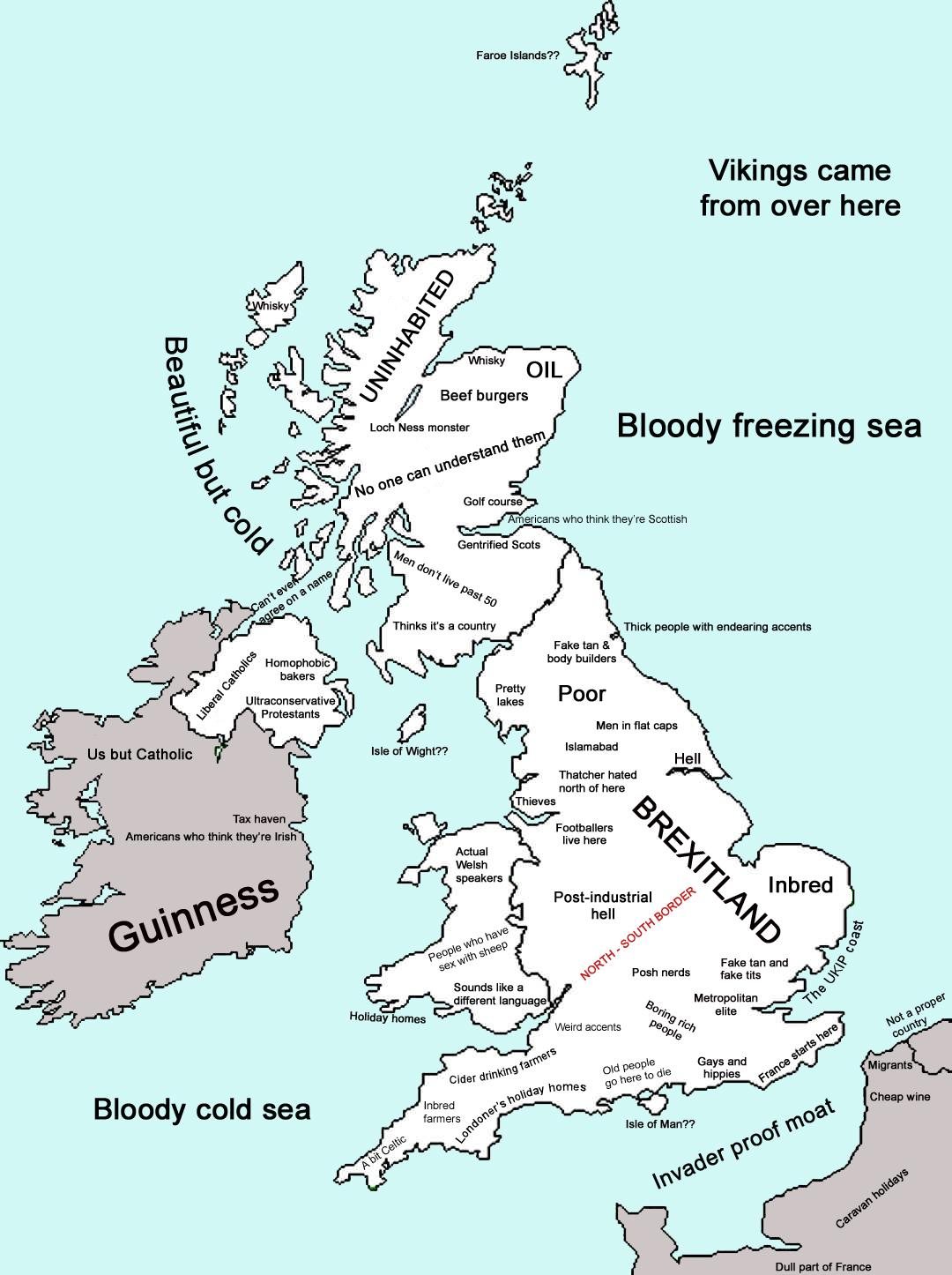 UK stereotype map
