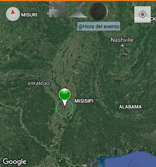 ULTIMA HORA: sismo atipico sacude mississipi estados unidos.