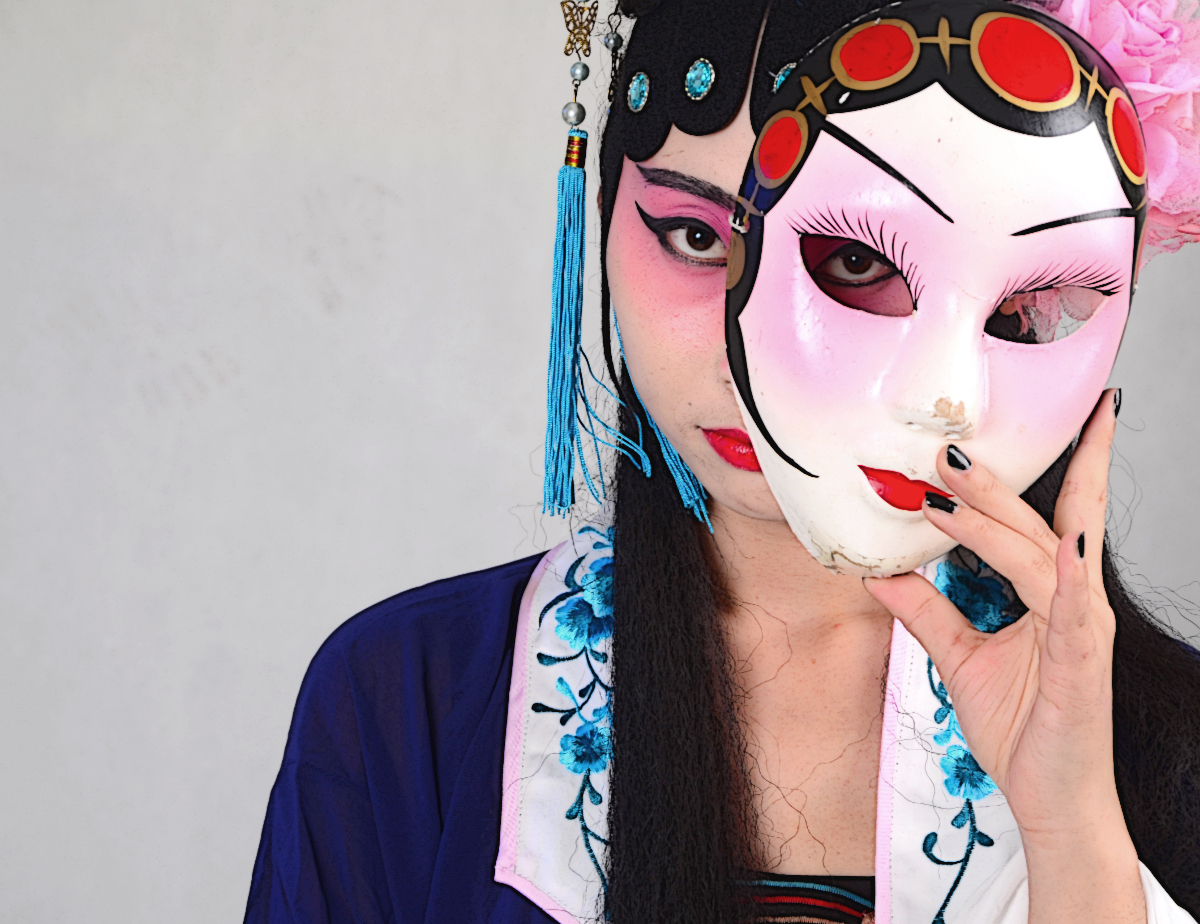 Chinese woman with mask